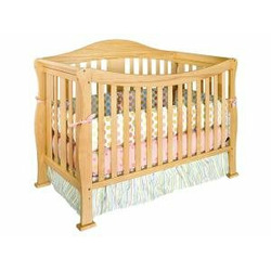 Parker Baby Crib Set in Natural
