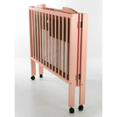 Dream On Me Dream On Me 2 In 1 Folding Porable Crib, Pink