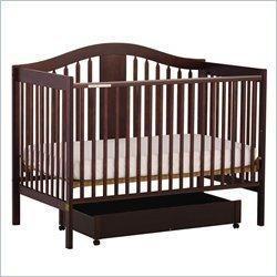 Stork Craft Chelsea 4-in-1 Stages Espresso Fixed Side Baby Crib