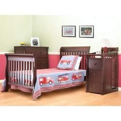 Sorelle Newport Mini Convertible Crib and Changer, Merlot