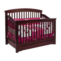 Davinci Harmony 4 in 1 Convertible Crib with Under Drawer, Cherry