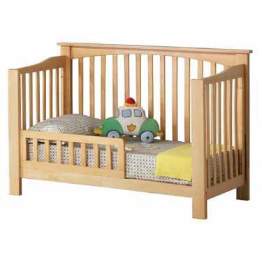 Atlantic Furniture Eco-Friendly Columbia Convertible Crib, Natural Maple