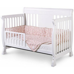 Chelsea 4-in-1 Convertible Baby Crib in White Finish