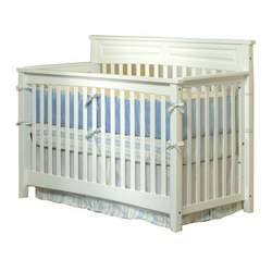 Child Craft Eastland Convertible Lifetime Crib, Matte White, Full Size