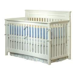 Child Craft Eastland Convertible Lifetime Crib, Matte White, Full Size