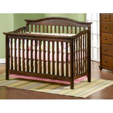 Child Craft Coventry Convertible Lifetime Crib, Mahogany, Full Size
