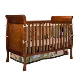 Bassettbaby First Choice Hampton Heights 3 in 1 Convertible Crib, Cherry