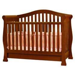 Athena Spring Convertible Crib in Espresso