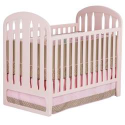 Slumber Time by Simmons Kids Furniture Urban Style 3 in 1 Convertible Crib, Pink