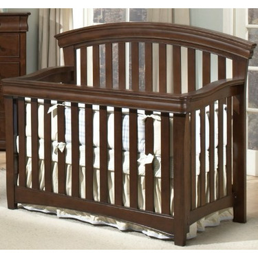 Westwood Design Stratton Convertible Crib with Guard Rail, Chocolate Mist