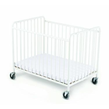 Foundations Stowaway Compact Size Folding Crib, White