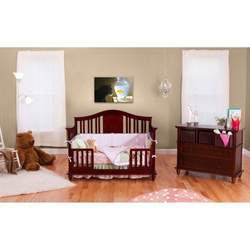 BSF Baby 4 in 1 Addison Crib - Cherry