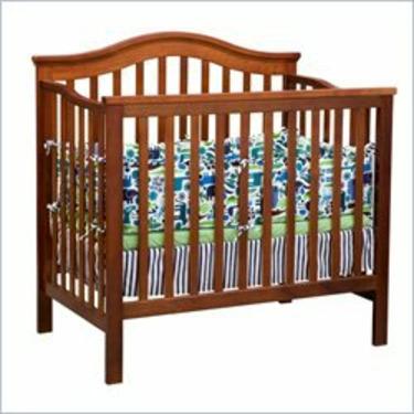 Delta Children's Products Liberty 3-in-1 Convertible Wood Mini Crib in Dark Cherry