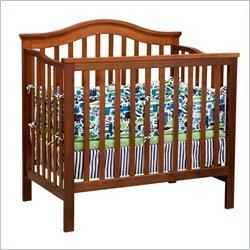 Delta Children's Products Liberty 3-in-1 Convertible Wood Mini Crib in Dark Cherry