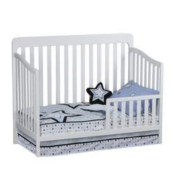 Slumber Time by Simmons Kids Furniture Urban Style 3 in 1 Convertible Crib N More, White
