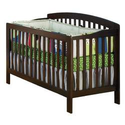Atlantic Furniture Eco-Friendly Richmond Convertible Crib, Antique Walnut