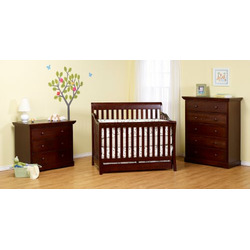 Davinci Marlowe 4 in 1 Convertible Crib with Under Drawer, Cherry