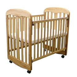 LA Baby Compact Crib with Rocking Cradle Feature, Natural
