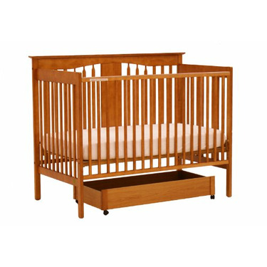 Stork Craft Lily 4-in-1 Crib with Drawer, Oak