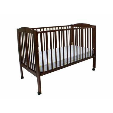 Dream On Me Folding Full Size Crib - Cherry