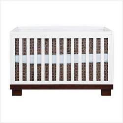 babyletto M6701QW / M6723QW Modo 3 in 1 Convertible Crib Nursery Set in White / Espresso