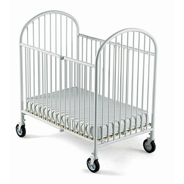 Foundations Pinnacle Compact Size Folding Crib, White