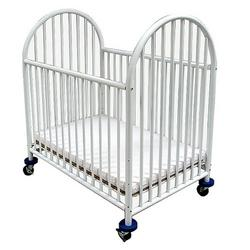 LA Baby Compact Arched Metal Crib, White
