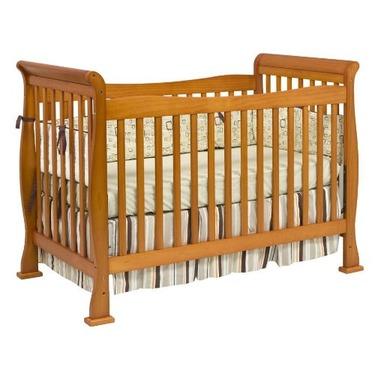 davinci reagan rail oak crib product toddler in parker s nursery with cribs p convertible