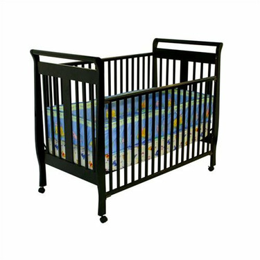 Dream On Me 2-in-1 Bella Sleigh Crib - Black