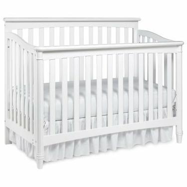 Europa Baby Geneva 4-in-1 Convertible Classic Crib Collection (Crib Only) White - LJO052