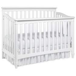 Europa Baby Geneva 4-in-1 Convertible Classic Crib Collection (Crib Only) White - LJO052