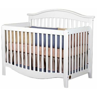 Child Craft Simple and Elegant Lifetime Convertible Crib, White