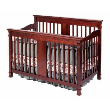 Stork Craft Cambridge Stages Crib, Cherry