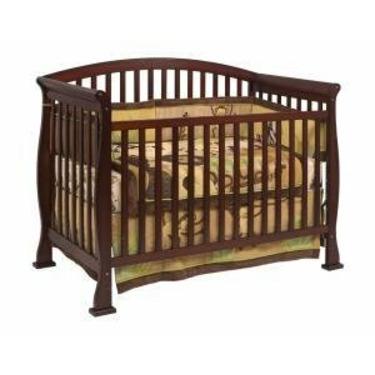 Thompson Baby Crib Set in Coffee