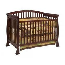 Thompson Baby Crib Set in Coffee