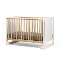 Oeuf Robin Collection Crib Whitewash/Birch