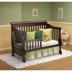 Orbelle Trading 4 in 1 Convertible Crib, Cherry