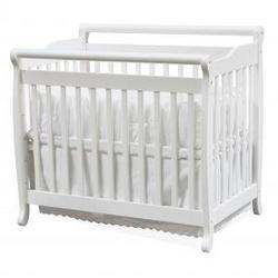 Emily Convertible Mini Crib in White