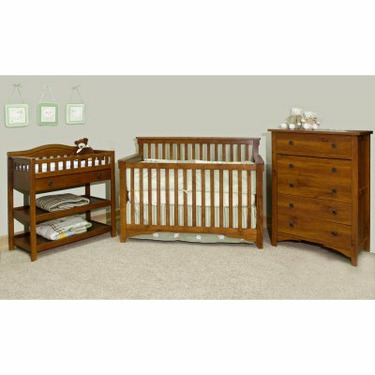 Child Craft Rose Valley Lifetime 3-in-1 Convertible Baby Crib Collection (Crib Only) - IK115