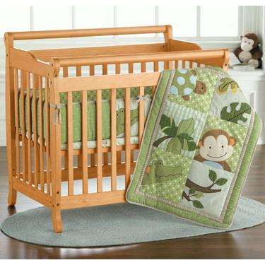 JCPenney Mini Emily Sleigh-Style Crib by DaVinci - Cherry, Ebony, Natural, White