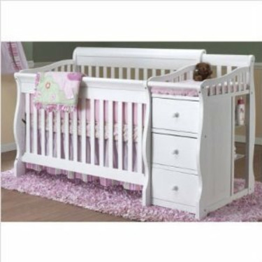 Tuscany 4-in-1 Convertible Crib Combo in White