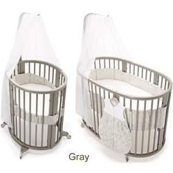 Stokke Sleepi System I Mini Convertible Wood Crib in Gray