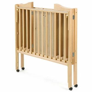 Folding 2-in-1 Portable Crib - Cherry
