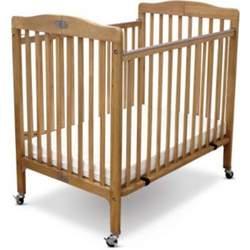 "Little Wood Port-A-Crib Set Includes 3"" Vinyl Mattress (Natural)"