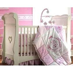 Disney Princess Bows & Lace 3-in-1 Crib by Delta - White