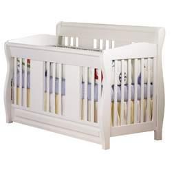 Atlantic Furniture Eco-Friendly Versailles Convertible Crib, White
