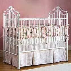 Traditional Iron Crib in Matte White