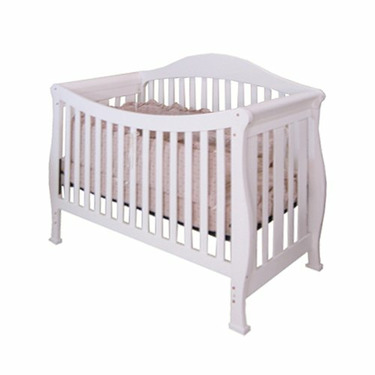 Athena Allie 3-in-1 Convertible Crib (White)