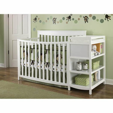 Nursery 101 Morgan Crib n' Changer - Classic Cherry