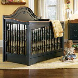 Ma Marie Built to Grow Crib - Antique Black